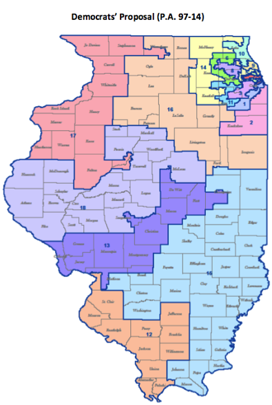 Capitol Faxcom Your Illinois News Radar Mobile Edition - Map of illinois us house of representatives districts